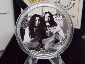 "2019 $20 Canada ""Give Peace a Chance"" 1oz Silver Proof Coin John Lennon #CF"