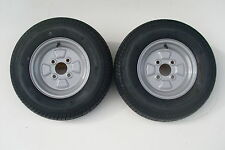 2 OFF 145/80 B10 TRAILER WHEEL/TYRE 4 STUD 4 PLY 100 PCD CONWAY SUNCAMP CABANON