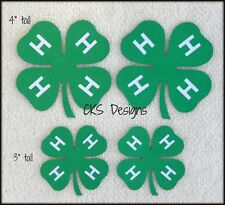 Die Cut 4-H Clovers 4H Club Scrapbook Embellishment Paper Piecing CKS Designs