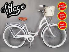 26 pollici Donna Cestino Bicicletta GRATIS CITYBIKE cityrad damenrad vilage 3 corsi