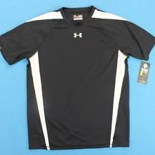 Men's Under Armour Shirt Size Medium M Black White Athletic Running Nwt New