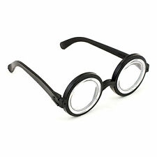 Black Nerd Eye Glasses Specs Halloween Wizard Dweeb Costume Accessory Prop