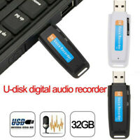 Mini USB Digital Pen Audio Voice Recorder Dictaphone 32GB Flash Drive U-Disk