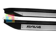 TOYOTA RAV4 XA30 2008-2012 PEDANE LATERALI SOTTO PORTA ACCIAIO INOX PVC