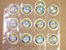 POGS SCRAMBLED ART/SPORTS COMPLETE SET OF 12 AWESOME