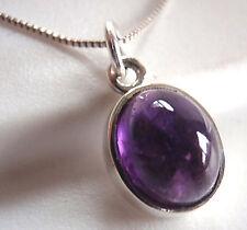 Amethyst 925 Sterling Silver Pendant Corona Sun Jewelry Medium Small Size