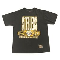 Vintage Pittsburgh Steelers T-Shirt 1993 NFL Size Large Single Stitch Choice Tag