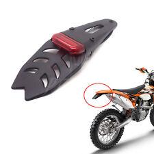 Red Motorcycle Trial Dirt Bike Fender Brake Stop Light Rear Tail Lamp Waterproof