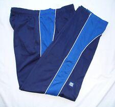 Wilson Mens Dark Blue Blue White Stripe Unlined Track Pants Xl Run Train Tennis