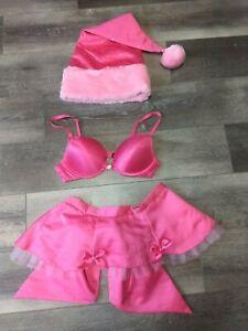 Victoria's Secret Sexy Little Things 3 Pc Santa Dress Up Set~O/S~34B~Hot Pink🔥