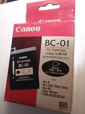 *NEW* Genuine Canon BC-01 Black Ink Cartridge BJ-5,BJ-10e.10ex/10sx,BJ-20