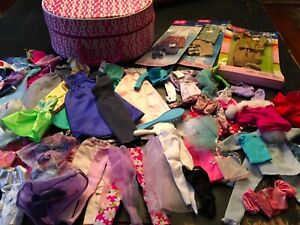 Huge LOT Barbie Doll & Ken Doll Clothes & Barbie Case Gowns Dresses Pants MORE