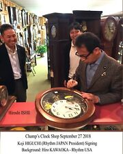 Signed Rhythm Clock JOYFUL BLESSING OAK  by Presidents JAPAN & USA  4MH414UO6