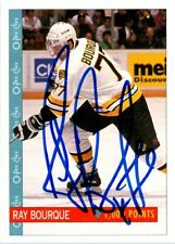 Ray Bourque Boston Bruins Hand Signed 1992-93 O-PEE-CHEE Hockey Card #348 NM-MT