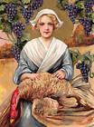 Winch Pilgram Lady Thanksgiving Turkey Grapes