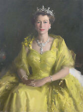 Queen Elizabeth II British Royal Collection Hand Painted Painting Museum Quality