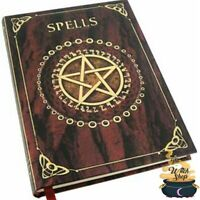"Red SPELLS BLANK Diary JOURNAL 5""x7"" Wicca Pagan Witch Book of Shadows"