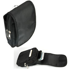 Mens Outdoor Sport Pouch Belt Loop Black Bag Waist Fanny Pack Phone Money Wallet