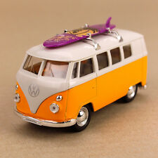 1963 T1 Kombi Volkswagen Hippy Van Die-Cast Model Bus Surfboard 11.5cm Yellow