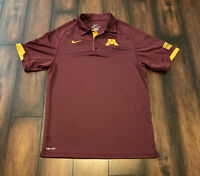 Nike Dri Fit Golf Polo Shirt Minnesota Golden Gophers Hockey Sz S NCAA