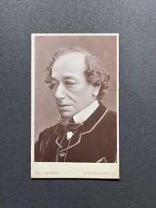 Victorian CDV: Politician British Prime Minister Benjamin Disraeli: Stamp Luks
