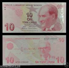 Turkey Paper Money 10 Lirasi 2009 UNC