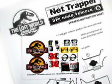 Replacement Stickers for Kenner JURASSIC PARK Lost World Net trapper Pre-cut!!!