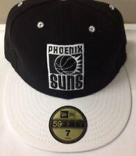Phoenix Suns New Era 59FIFTY Black and White Hat Sizes 7
