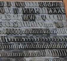 Bleischrift OLEANDER 13,5 mm Bleisatz Buchdruck Handsatz Bleialphabet Alphabet