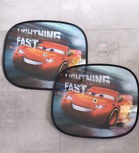 2x Auto Cars Sonnenschutz Sonnen Schutz Sonnenblende Disney Urlaub Neu