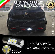 LAMPADA RETROMARCIA 15 LED P21W BA15S CANBUS ABARTH PUNTO EVO 6000K NO ERROR