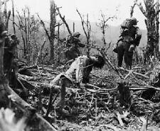 US Marines advance past dead Japanese soldier 8X10 World War II WW2 Photo 361