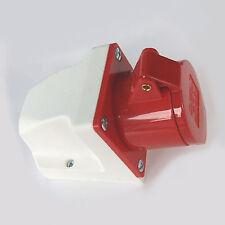 Superficie 16a 415v 5 pin presa femmina rosso 3 fase 3p, n + e rosso resistente alle intemperie 16 Amp