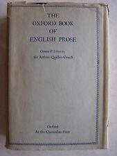1948 The Oxford Book Of English Prose by Arthur Quiller Couch 1092 pages HC RARE