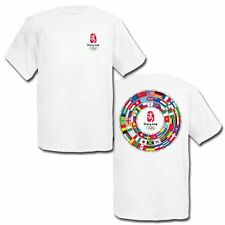 "Lot of 24 Medium Beijing 2008 ""Circle of Flags"" Olympic T-Shirts"