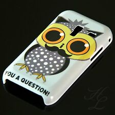 Samsung Galaxy Ace Plus S7500 Hard Handy Case Hülle Cover Etui Eule Bart Owl