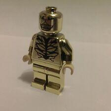 LEGO CUSTOM SUPERHEROS MARVEL SPIDER-MAN CARNAGE GOLD CHROME MINIFIGURE