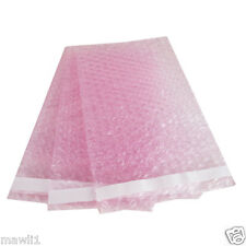 25 7X8.5 Anti-Static Pink BUBBLE OUT POUCHES BUBBBLE WRAP BAGS