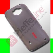 Custodia anti urto in silicone trasparente fumè cover per HTC SENSATION XL   G21