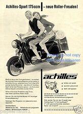 Motorroller Achilles Sport Reklame von 1954 Wilhelmshaven Langewerth Roller (D)