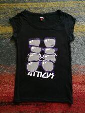 Atticus black shades sunglasses rock alternative Blink-182 scoop neck t-shirt XS