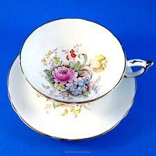 Handpainted Floral Bouquet Center Paragon Tea Cup and Saucer Set