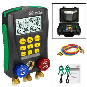 USA Refrigeration Digital Manifold Gauge HVAC Vacuum Pressure Temp Tester Kit