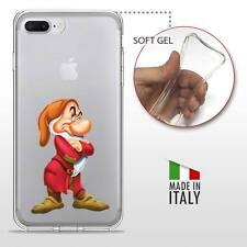 iPhone 7 Plus TPU CASE COVER PROTETTIVA GEL TRASPARENTE Disney Brontolo 7 Nani