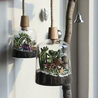 Home Garden Decor Glass/Terrarium Planting/Flower Container Hangers or Air Pot
