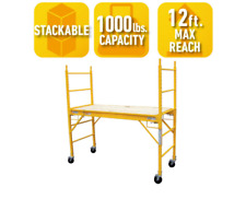 6-Foot Multi-Use Drywall Baker Scaffolding with 1000 lb. Load Capacity All Steel