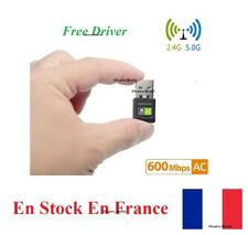 USB WiFi Adapter 600Mbps Wireless Dongle Dual Band 2.4GHz/5GHz Free Driver