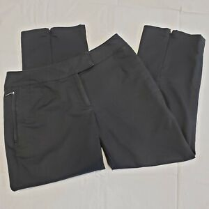 Nike Golf Fit Dry Womens Cropped Pants Size 2 Black Capris Back Front Pockets