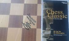 "Vladimir kramnik Chess-Champion signed this Chess-Board Field ""c4"" en 2001 rare!"