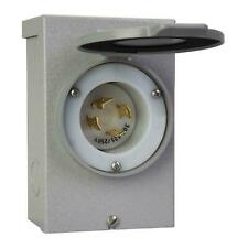 Reliance Controls PB30 30 Amp NEMA 3R Power Inlet Box for Generators Up to 8 000 Running Watts